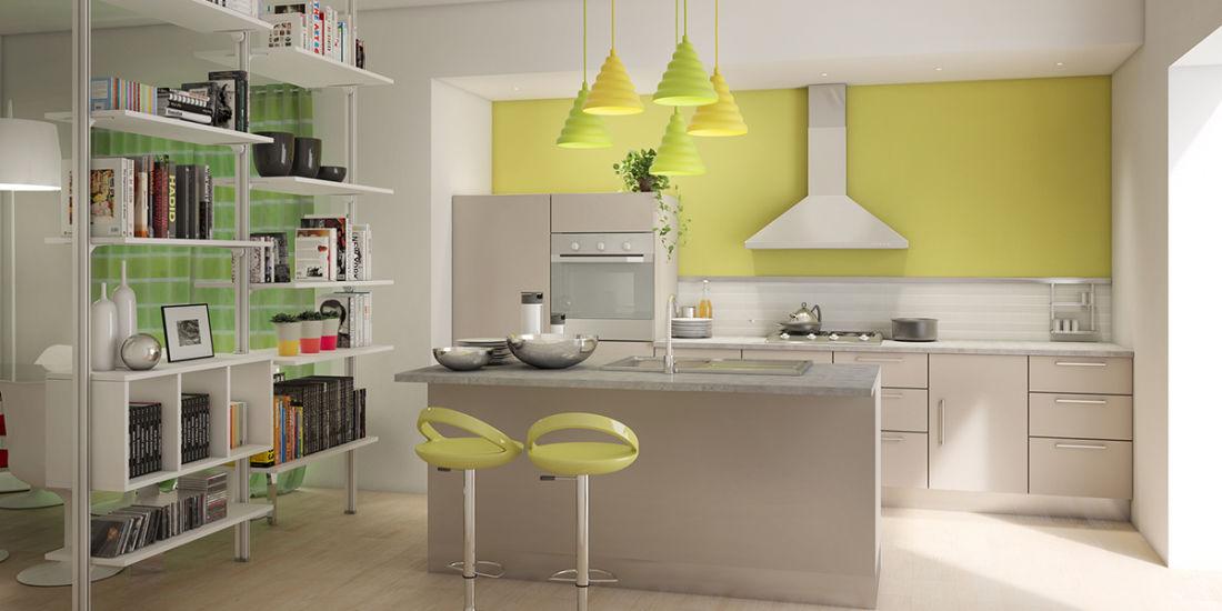Idee per la casa: arredare living con cucina a vista fai da te ...