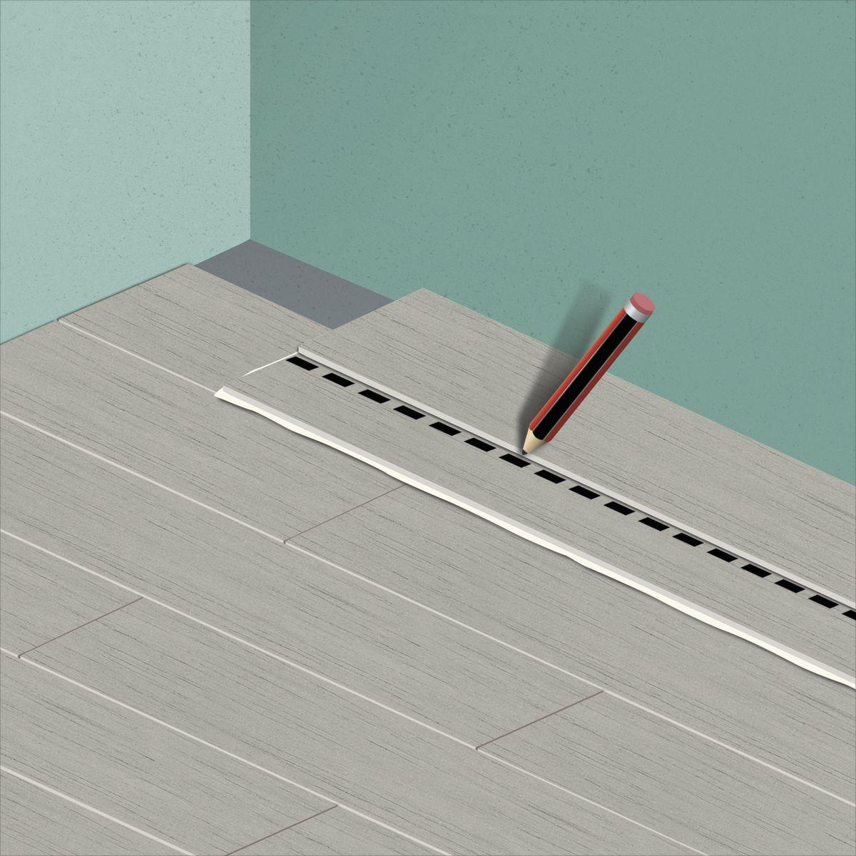 Come posare lame o piastrelle adesive in pvc guide e tutorial leroymerlin - Piastrelle adesive pavimento ...
