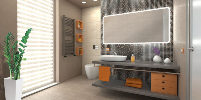 """Come arredare un bagno """"contemporaneo"""" con pianta irregolare fai da ..."""