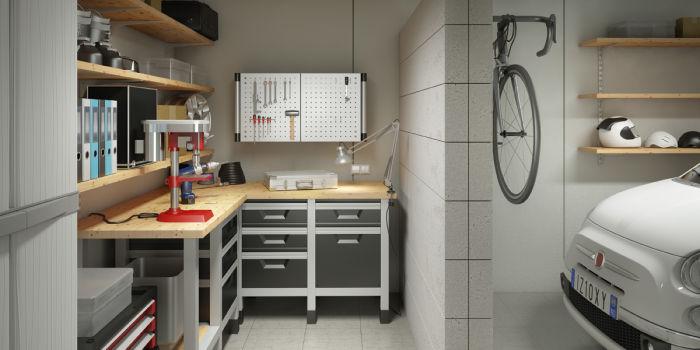 Idee Per Arredare Garage.Arredare Il Garage Come Sala Bricolage Fai Da Te Leroy Merlin