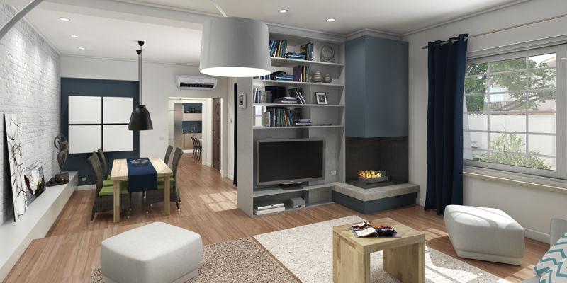 Arredare un soggiorno moderno e tecnologico leroy merlin for Arredamento soggiorno moderno idee