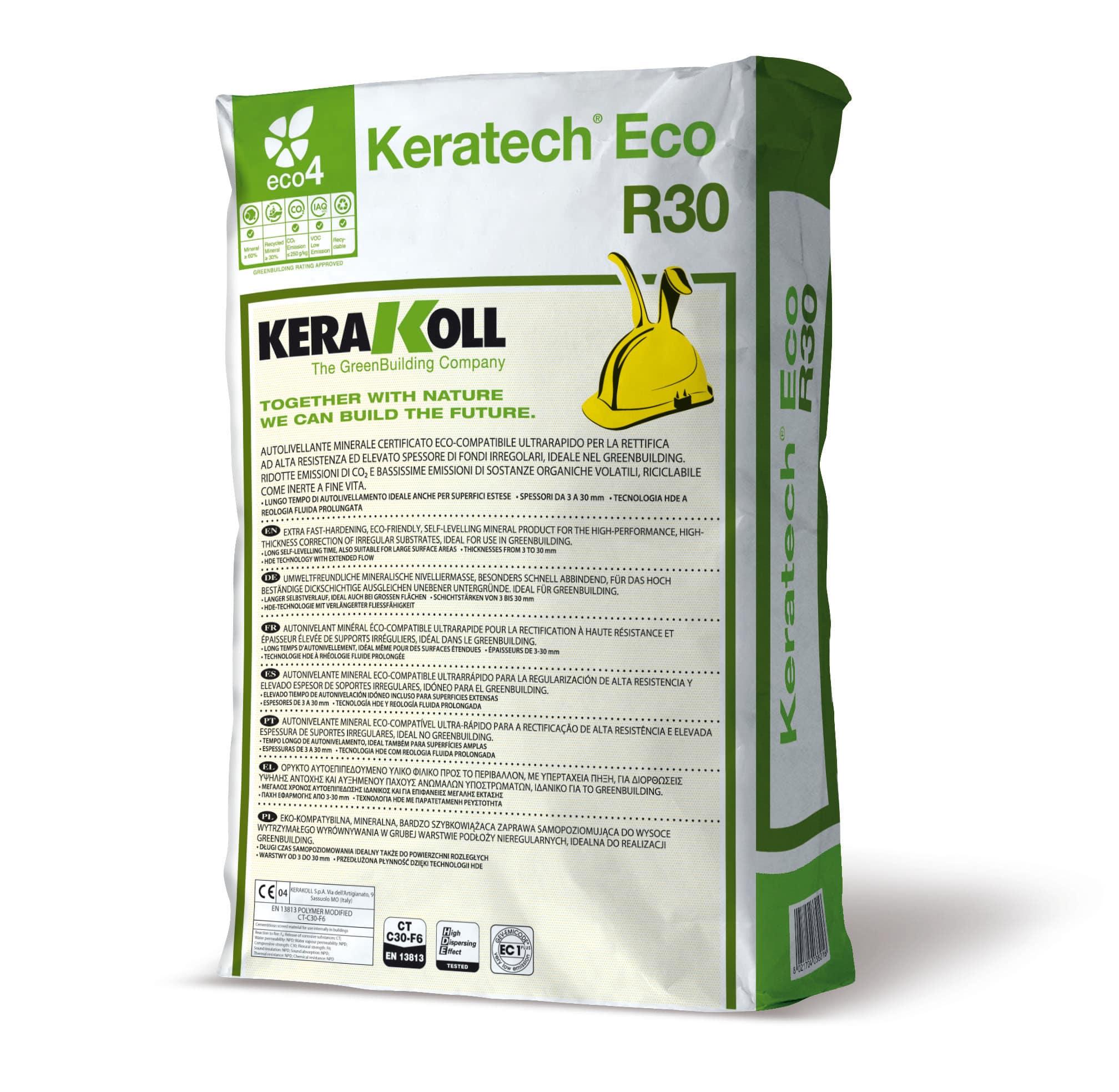 Autolivellante Keratech Eco R30 Kerakoll 25 Kg Prezzi E Offerte