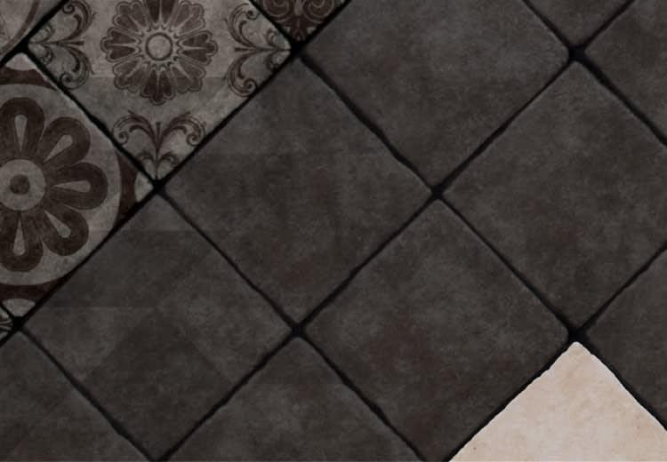 Piastrelle decorative per pavimenti interni: piastrella in resina