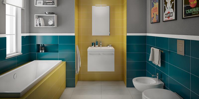 Bagno senza piastrelle sulle pareti - Coprire mattonelle bagno ...