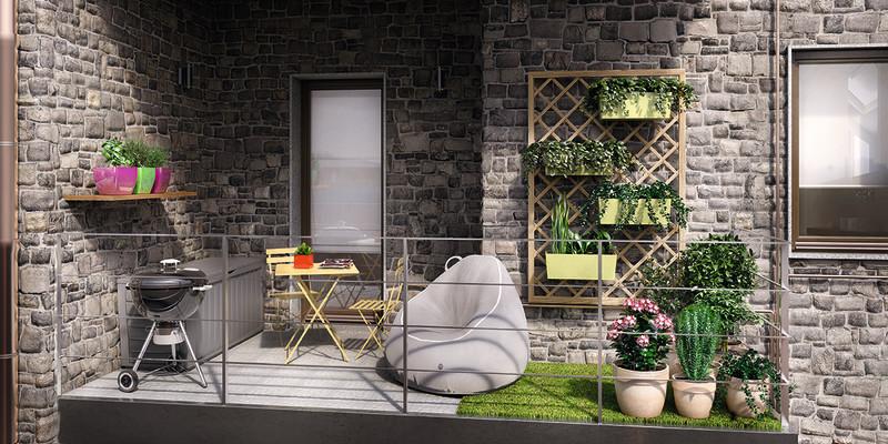 Arredare terrazzo piccolo: idee per un balcone multifunzione fai da te  Leroy Merlin