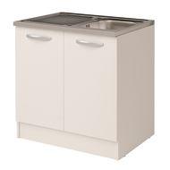 Lavello appoggio Dioniso L 80 x P 60 cm 2 vasche: prezzi e offerte ...