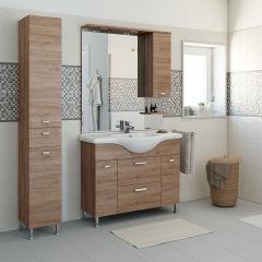 bagno mobile bagno rimini rovere nabucco l 105 cm 35927122