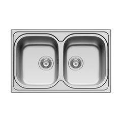 cucina lavello incasso amaltia l 79 x p 50 cm 2 vasche 34915741