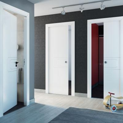Porta da interno scorrevole Seventy bianco 70 x H 210 cm reversibile ...