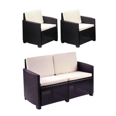 Set 2 poltrone O divano a 2 posti lipari antracite: prezzi e offerte ...