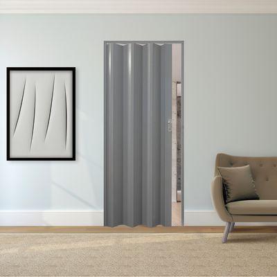 Finest porte scale e a soffietto vera grigio tessuto l x h - Porta a soffietto leroy merlin ...