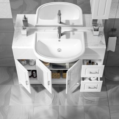 mobile bagno paola bianco l 120 cm: prezzi e offerte online - Mobili Piccoli Bagno