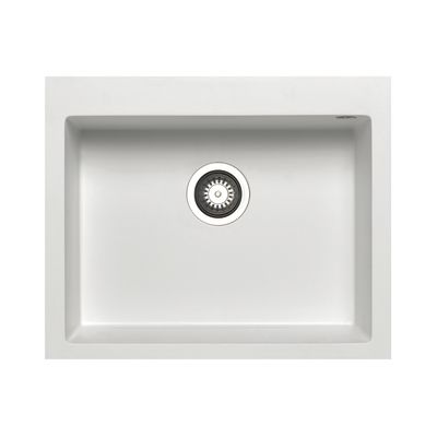 Lavello incasso Voyager bianco L 61 x P 50 cm 1 vasca: prezzi e ...