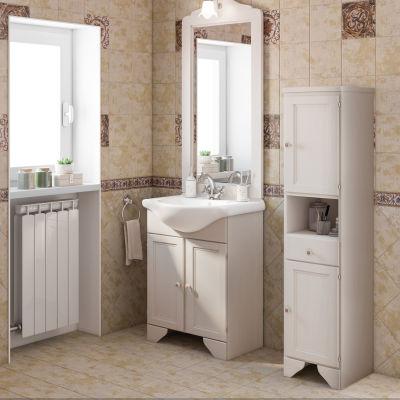 Mobile bagno Laura bianco L 65 cm: prezzi e offerte online