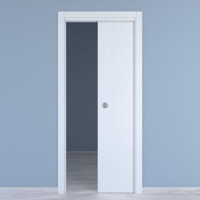 Porta da interno scorrevole Renoir bianco venato 80 x H 210 cm ...
