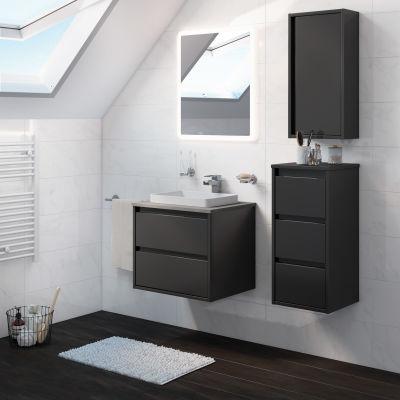 bagno mobile bagno loto grigio antracite l 60 cm 35924770