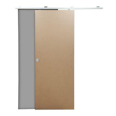Porta da interno scorrevole Practical filomuro grezza 80 x H 210 cm ...