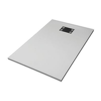 Piatto doccia resina sensea slate 80 x 120 cm bianco for Piatto doccia 170x70 leroy merlin