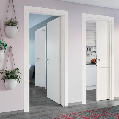 Porta da interno scorrevole Two Lines bianco 70 x H 210 cm ...