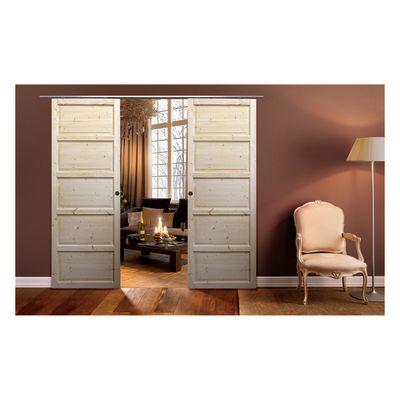 Porta da interno scorrevole Brahms grezza 96 x H 220 cm reversibile ...