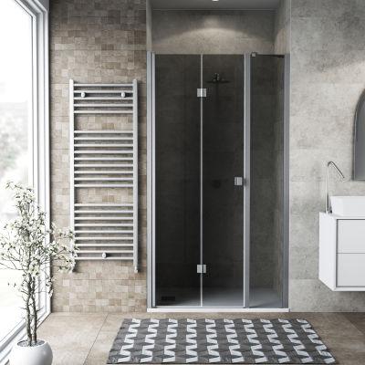 Doccia con porta pieghevole lato fisso in linea Neo 82 - 86 + 40 cm ...