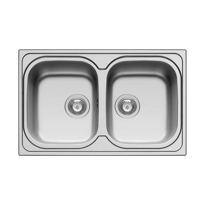 Lavello incasso Amaltia L 79 x P 50 cm 2 vasche: prezzi e offerte online