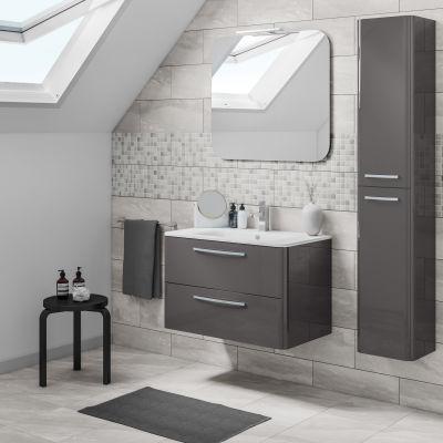 Mobile bagno Best grigio antracite L 81 cm: prezzi e offerte online
