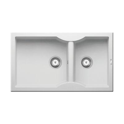 Lavello incasso Aeolia bianco L 86 x P 50 cm 2 vasche: prezzi e ...