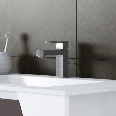 Mobile bagno Soft bianco con frontale grigio antracite L 152,5 cm ...