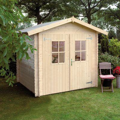 casetta in legno grezzo dolly 3,45 m², spessore 18 mm: prezzi e