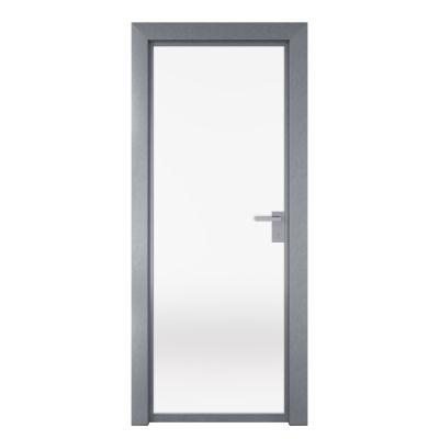 Porta per ufficio battente Office vetro temperato bianco satinato 80 ...