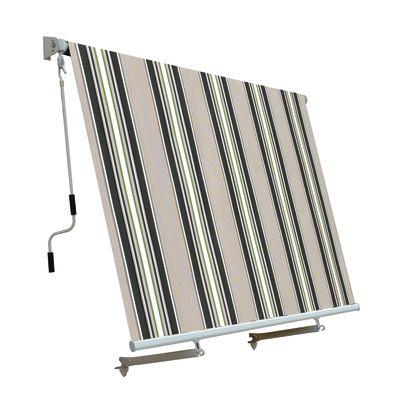 Tenda da sole a caduta con bracci 245 x 245 cm verde/beige: prezzi e ...