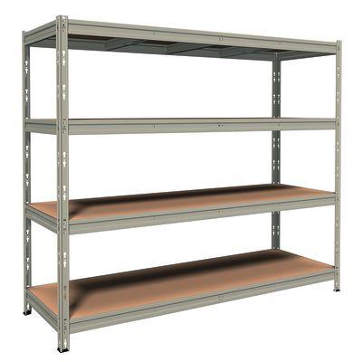 Scaffale metallo grigio 4 ripiani in legno l 210 x p 70 x for Ikea scaffali metallo