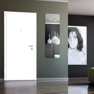 Porta blindata bicolor noce l 90 x h 200 cm dx prezzi e for Porte interno leroy merlin