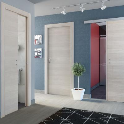 Porta da interno battente One ecrù 80 x H 210 cm reversibile ...
