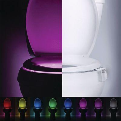 Luce notturna bagno WC Toiled bianco 6,7 cm integrato = 1 W IP44 ...