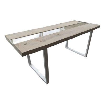 Tavolo Synergo legno e vetro L 160 x P 80 x H 75 cm grezzo: prezzi e ...