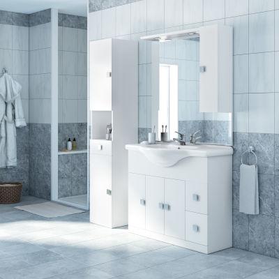 Mobile bagno Super bianco L 105 cm: prezzi e offerte online