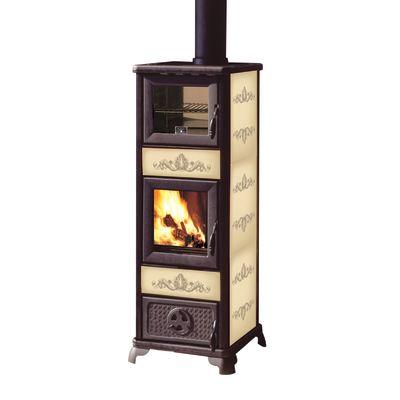 Stufa a legna con forno Gloria due panna: prezzi e offerte online