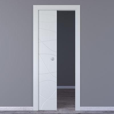 Porta da interno scorrevole Wind white bianco 70 x H 210 cm ...
