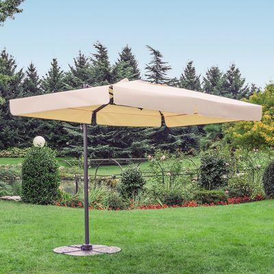 Ombrellone decentrato 3 x 2 m beige: prezzi e offerte online