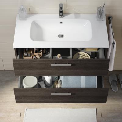 bagno mobile bagno basic rovere scuro l 90 cm 35922495_1