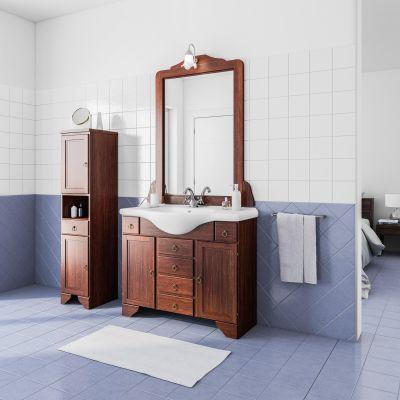 Mobile bagno Laura marrone L 99,5 cm: prezzi e offerte online