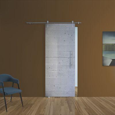Porta da interno scorrevole Cemento 88 x H 215 cm sx: prezzi e ...