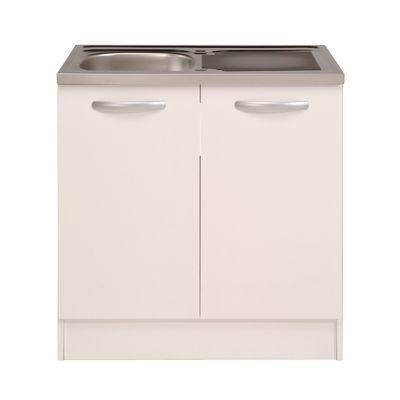 cucina base per lavello spring 2 ante bianco l 80 x h 86 x p