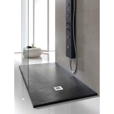 Piatto doccia poliuretano Soft 170 x 70 cm nero: prezzi e offerte online