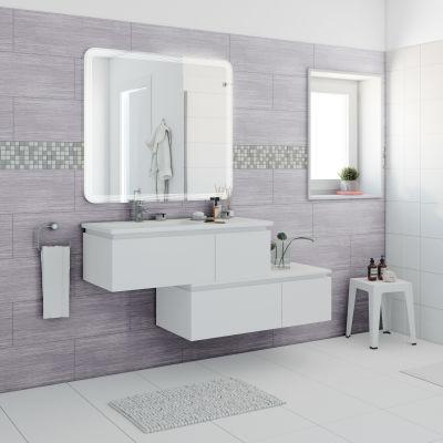 Mobile bagno avril bianco l 100 cm prezzi e offerte online - Mobile bagno leroy merlin ...