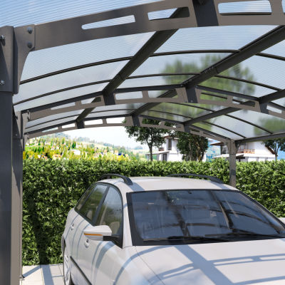 Carport Siena copertura trasparente 5 x 3,62 m: prezzi e offerte online