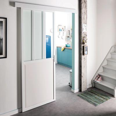 Porta da interno scorrevole Atelier Bianco 86 x H 215 cm ...