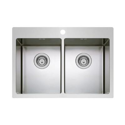 lavello incasso istros l 75,5 x p 51 cm 2 vasche: prezzi e offerte ... - Lavello Cucina 2 Vasche